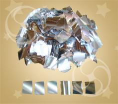 Конфетти квадратное металлизированное серебристое токонепроводящее (метафан) (FX-5-1)