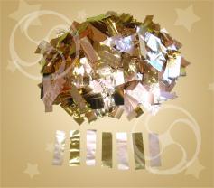 Конфетти металлизированное прямоугольное золотисто-серебристое токонепроводящее (метафан)