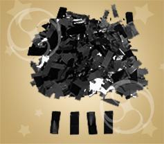 Конфетти полипропиленовое прямоугольное черное