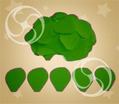 Конфетти полипропиленовое лепестки розы зеленые (CONFP05DG)