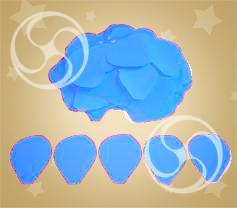 Конфетти полипропиленовое лепестки розы голубые (CONFP05LB)