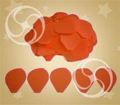 Конфетти полипропиленовое лепестки розы оранжевые (CONFP05OR)
