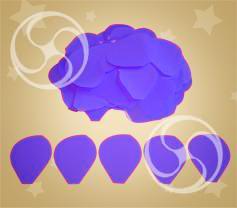 Конфетти полипропиленовое лепестки розы фиолетовые