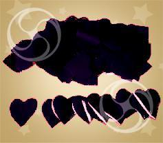 Конфетти полипропиленовое сердечки черные (CONFP04BL)