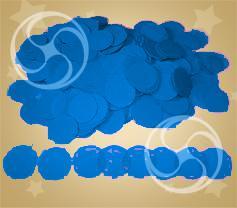 Конфетти полипропиленовое круглое синее (CONFP02DB)