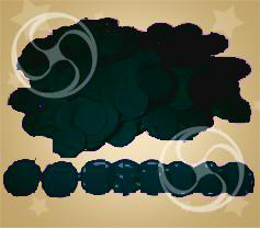 Конфетти полипропиленовое круглое черное (CONFP02BL)