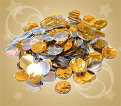 Конфетти металлизированное круглое серебристо-золотистое (CONFMD02GL)