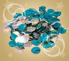 Конфетти металлизированное круглое серебристо-синее (CONFMD02DB)