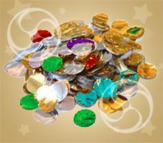 Конфетти металлизированное круглое разноцветно-серебристое (CONFMD02MC)