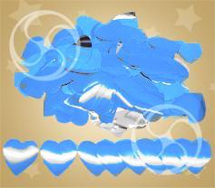 Конфетти металлизированное сердечки синие (CONFM04DB)