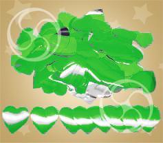 Конфетти металлизированное сердечки зеленые (CONFM04DG)