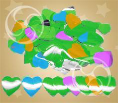 Конфетти металлизированное сердечки разноцветные-серебристые (CONFMD04SMC)