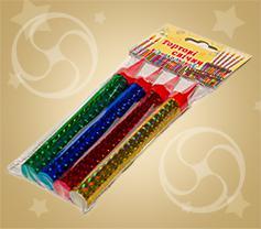 Тортовые свечи разноцветные 4-45 (FS-4)