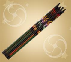 Набор из 4 римских свечей разноцветные с треском (RS-5)