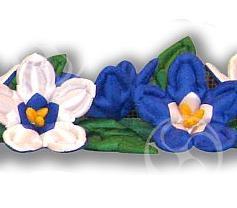 Пневмогирлянда 'Лилия 'Шер' сине - белая'