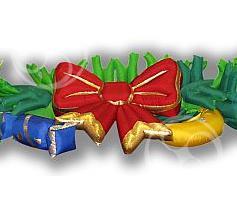 Пневмогирлянда 'Новогодняя с бантом'