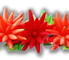 Пневмогирлянда 'Хризантема красная'