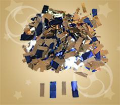 Конфетти металлизированное прямоугольное синее-серебристое (метафан-микс) (CONFM10DBSL)