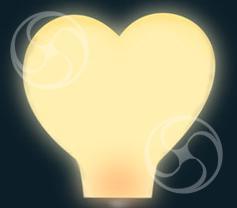 Сердце белое большое (встроенное топливо)