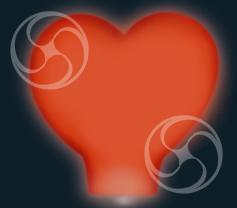 Сердце красное большое (встроенное топливо)