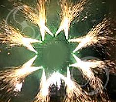 Композиция из 16 искристых фонтанов: Звезда 8-ми конечная