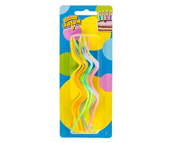 Свечи для торта спираль 13см 12шт