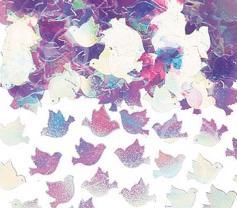 Конфетти голуби перламутр розовый 14гр