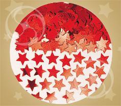 Конфетти звезды красные 14гр
