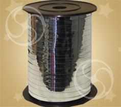 Лента металлизированная серебро 250м