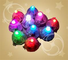 Светодиод для шариков разноцветный мигающий с батарейкой