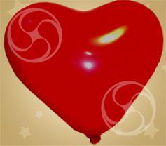 Сердце Кристалл красное 10