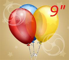 Наполнение гелием шарика 9