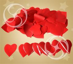 Конфетти полипропиленовое сердечки красные (CONFPSM04RD)