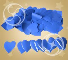 Конфетти полипропиленовое сердечки синие (CONFPSM04DB)