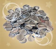 Конфетти металлизированное круглое серебристое (CONFMSM02SL)