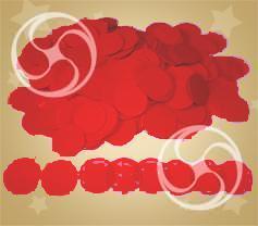 Конфетти полипропиленовое круглое красное (CONFPSM02RD)