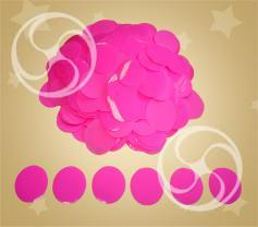 Конфетти полипропиленовое круглое розовое (CONFPSM02PK)