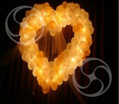 Светящееся сердце из шаров (Heart-1)
