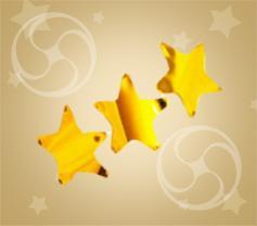 Конфетти металлизированное звездочки золотистые (CONFMSM06GL)