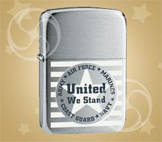 ZIPPO United we stand 'Объединённые силы'