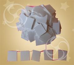 Конфетти полипропиленовое квадратное белое (снег) (CONFP30WH)