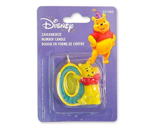 Тортовая свеча цифра '0' Disney Винни