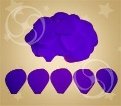 Конфетти полипропиленовое лепестки розы фиолетовые (CONFP05/2PRR)
