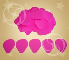 Конфетти полипропиленовое лепестки розы розовые (CONFP05/2PK)