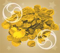 Конфетти металлизированное круглое золотистое (CONFM02/2GL)