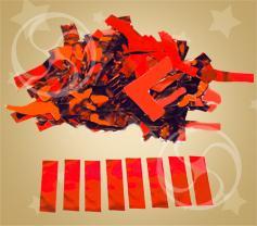 Конфетти металлизированное прямоугольное красное (метафан) (CONFM10/2RD)