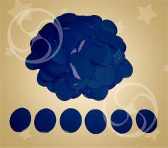 Конфетти полипропиленовое круглое синее (CONFP02/2DB)