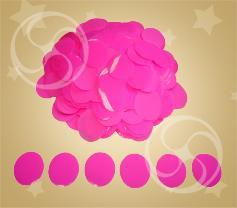 Конфетти полипропиленовое круглое розовое (CONFP02/2PK)