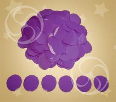 Конфетти полипропиленовое круглое фиолетовое (CONFP02/2PR)