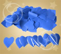 Конфетти полипропиленовое сердечки синие (CONFP04/2DB)